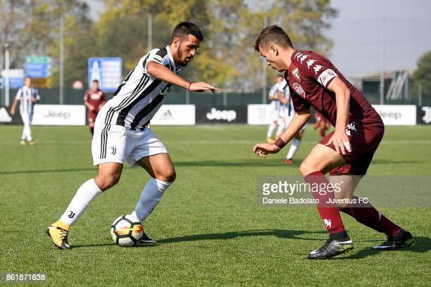 Marco Olivieri during the Serie A Primavera match between Juventus U19 and Torino FC U19 at Juventus Center Vinovo on October 14 2017 in Vinovo Italy