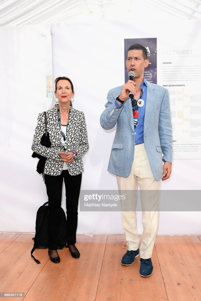 Marco Orsini (R) attends From Dhaka to Cannes: A Celebration of Talent hosted by the International Emerging Film Talent Association(IEFTA) at La Plage Royale on May 19, 2017 in Cannes, France.