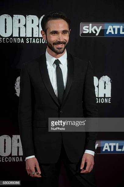 Marco Palvetti attends the 'Gomorra 2 - La serie' on red carpets at The Teatro dell'Opera in Rome, Italy on May 10, 2016.