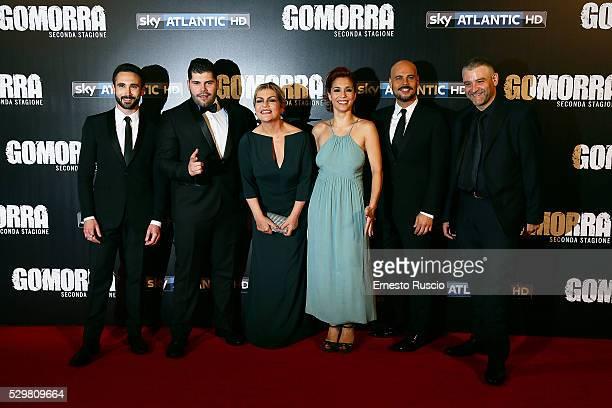 Marco Palvetti, Salvatore Esposito, Cristina Donadio, Cristiana Dell' Anna, Marco D'Amore and Fortunato Cerlino attend the 'Gomorra' Tv Show premiere...