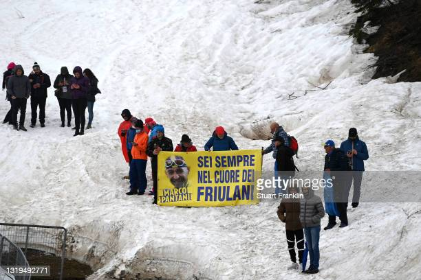 Marco Pantani Fans Marco Pantani at during the 104th Giro d'Italia 2021, Stage 14 a 205km stage from Cittadella to Monte Zoncolan 1730m / Snow /...