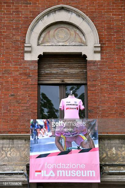 """Marco Pantani """"Il Pirata"""" of Italy Ex- Pro-rider at start during the 104th Giro d'Italia 2021, Stage 3 a 190km stage from Biella to Canale / Detail..."""