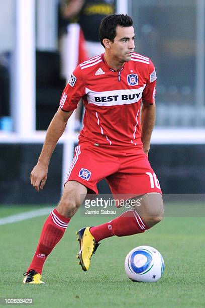 Marco Pappa of the Chicago Fire controls the ball against the Columbus Crew on July 3, 2010 at Crew Stadium in Columbus, Ohio.