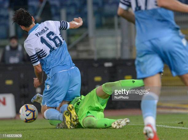 Marco Parolo during the Italian Serie A football match between SS Lazio and Bologna at the Olympic Stadium in Rome on may 20 2019