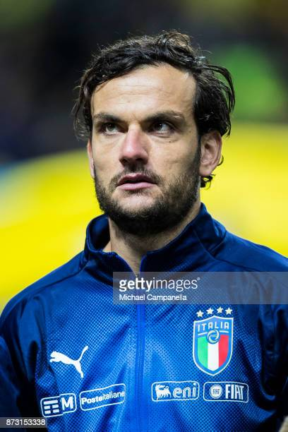 Marco Parolo of Italy during the FIFA 2018 World Cup Qualifier PlayOff First Leg between Sweden and Italy at Friends arena on November 10 2017 in...
