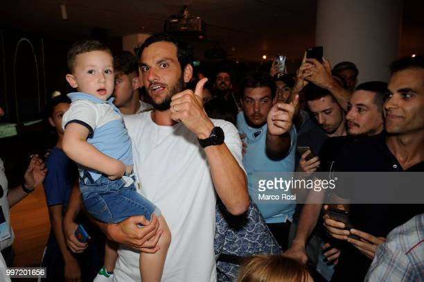 Marco Parolo of SS Lazio attend the SS Lazio unveil new shirt for 201819 Season on July 12 2018 in Rome Italy