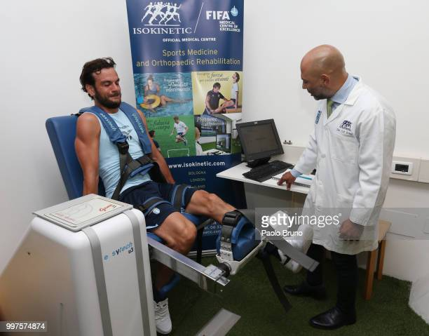 Marco Parolo of SS Lazio attends the SS Lazio medical tests on July 13 2018 in Rome Italy