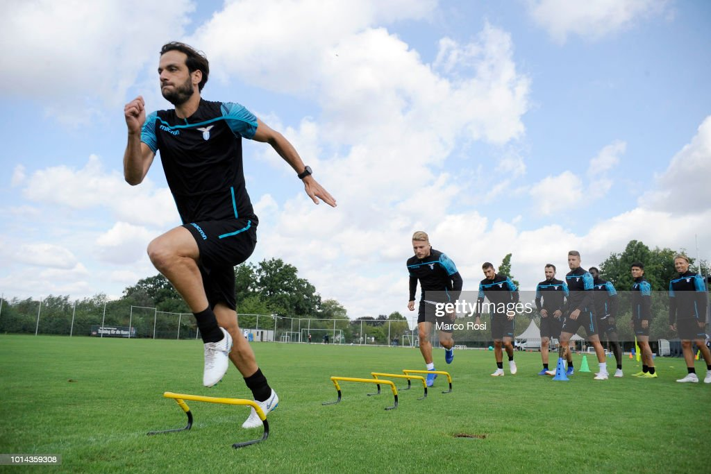 Marco Parolo of SS Lazio during the SS Lazio training session on August 10, 2018 in Marienfeld, Germany.