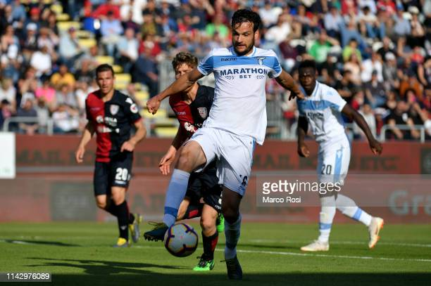 Marco Parolo of SS lazio in action during the Serie A match between Cagliari and SS Lazio at Sardegna Arena on May 11 2019 in Cagliari Italy