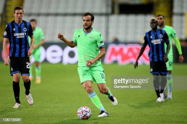 Marco Parolo of SS Lazio in action during the UEFA Champions League Group F stage match between Club Brugge KV and SS Lazio at Jan Breydel Stadium on...