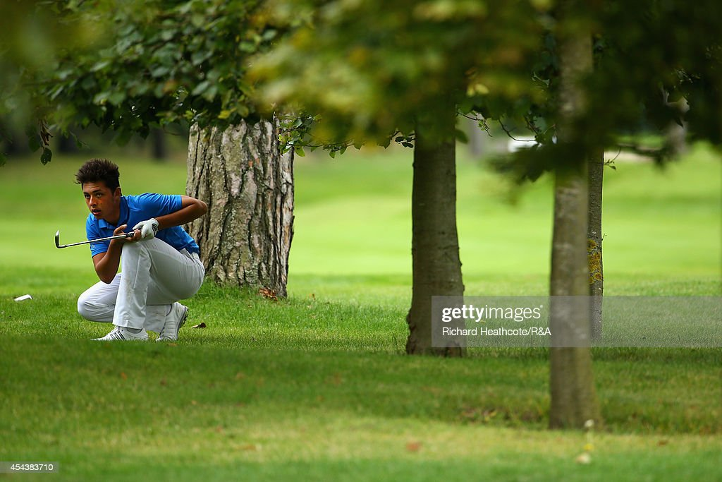 Marco Penge of GB&I in action during his match against Stefano Mazzoli of Europe during the final day of the Jacques Trophy at Barseback Golf & Country Club on August 30, 2014 in Loddekopinge, Sweden.