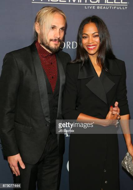 Marco Perego and Zoe Saldana attend the 2017 Baby2Baby Gala on November 11 2017 in Los Angeles California