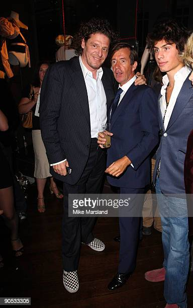Marco Pierre White and John Stoddart attend private view of Coco De Mer And John Stoddart: Love And Lust on September 9, 2009 in London, England.