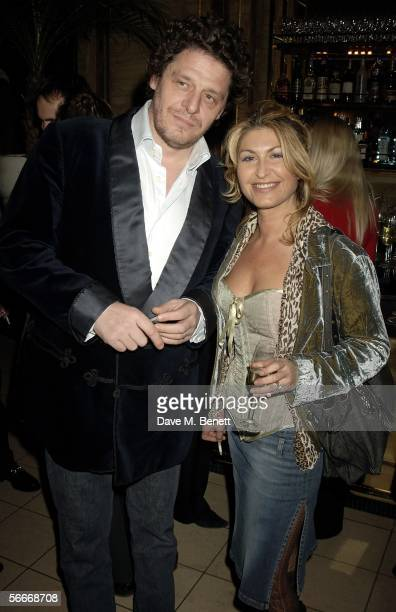 Marco Pierre White and wife Matti Pierre White attend the relaunch party celebrating the opening of the latest branch of Marco PierreWhite and...