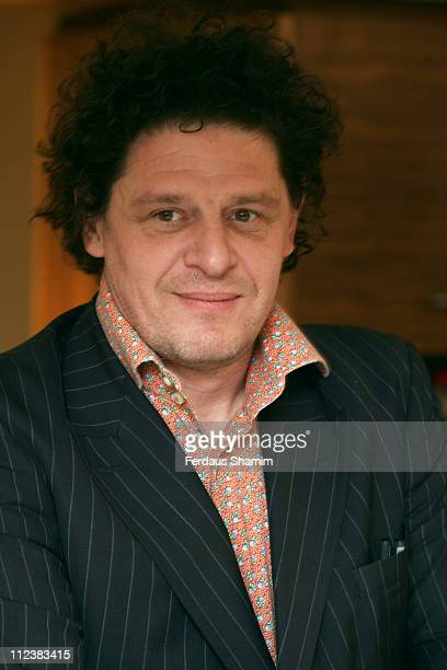 Marco Pierre White during Marco Pierre White Launches The White Heat Cookery Collection London Photocall at Harrods in London Great Britain