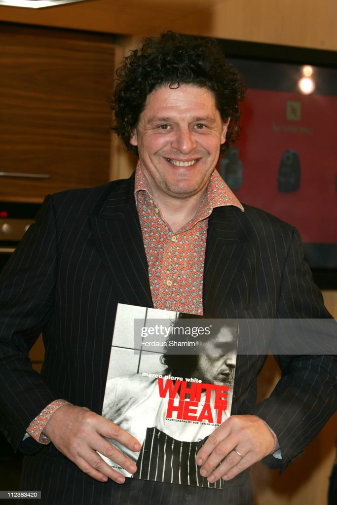 "Marco Pierre White Launches ""The White Heat Cookery Collection"" London Photocall"