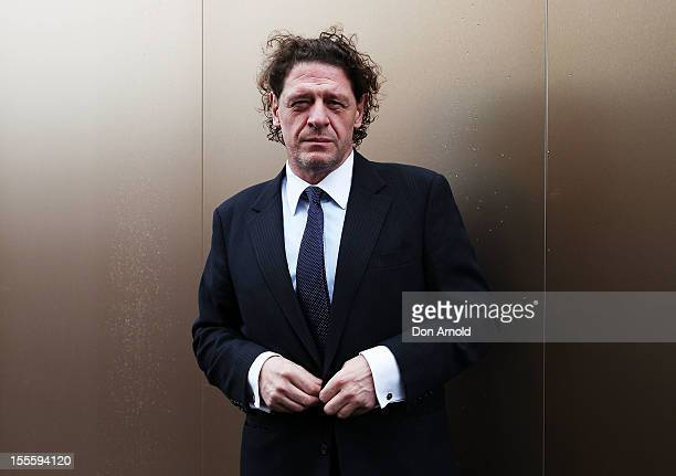 Marco Pierre White poses at the Melbourne Cup at Flemington Racecourse on November 6 2012 in Melbourne Australia
