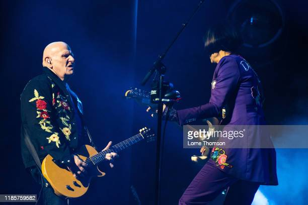 Marco Pirroni and Marcella Detroit of Shakespears Sister perform at Palladium Theatre on November 05 2019 in London England