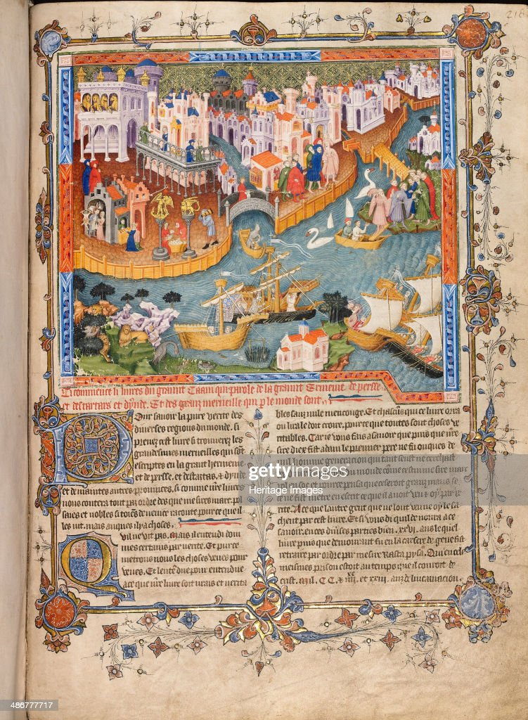 marco polo s departure from venice in 1271 ca 1400. Black Bedroom Furniture Sets. Home Design Ideas