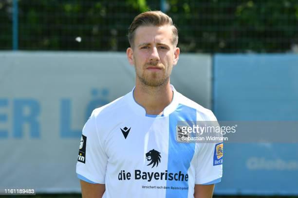 Marco RaimondoMetzger of TSV 1860 München poses during the team presentation at Trainingsgelaende TSV 1860 Muenchen on July 10 2019 in Munich Germany