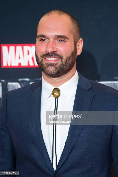 Marco Ramirez attends the 'Marvel's The Defenders' New York premiere at Tribeca Performing Arts Center on July 31 2017 in New York City