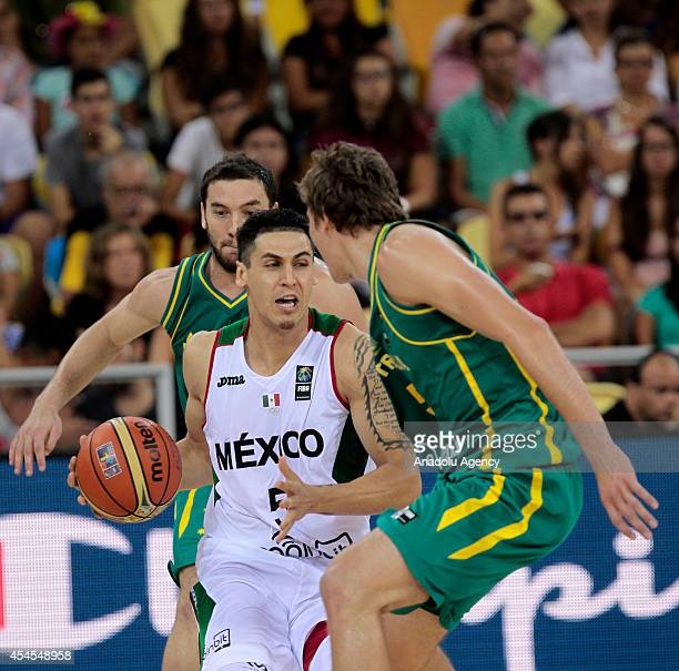 Marco Ramos of Mexico in action against his opponents during the 2014 FIBA World basketball championships group D match between Mexico and Australia...