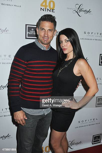 Marco Reed and Angel Boris attend Beverly Hills Lifestyle Magazine's 'Academy Awards Issue' Party With Tom Hanks at Sofitel Hotel on February 27 2014...