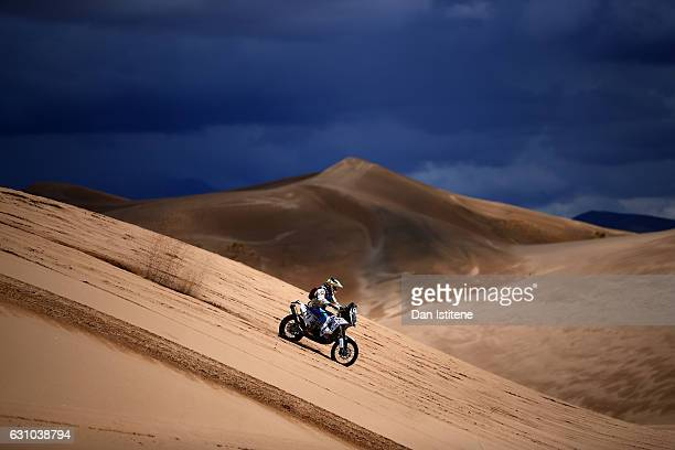 Marco Reinike of Chile and KTM rides a 450 Rally Replica KTM bike in the Classe 22 Marathon during stage four of the 2017 Dakar Rally between San...