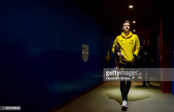 Marco Reus of Borussia Dortmund arrives at the stadium prior to the Group F - UEFA Champions League match between FC Barcelona and Borussia Dortmund...