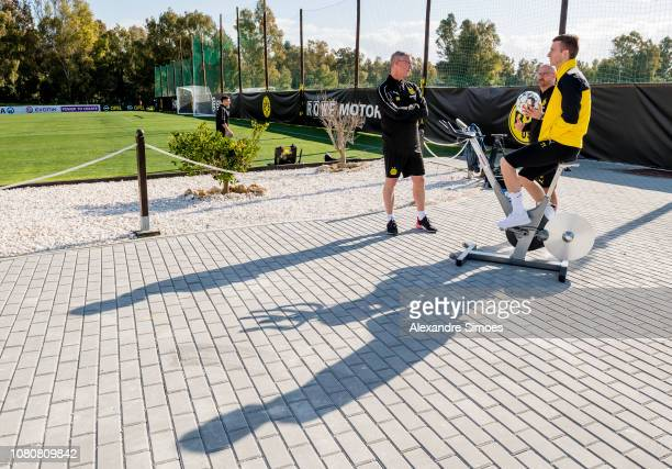 Marco Reus of Borussia Dortmund before the friendly match against Willem II Tilburg as part of the training camp on January 11, 2019 in Marbella,...