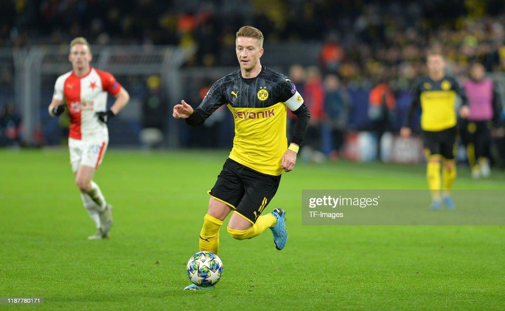 Borussia Dortmund v Slavia Praha: Group F - UEFA Champions League : News Photo