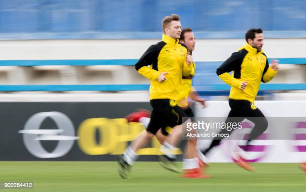 Marco Reus of Borussia Dortmund during a training session as part of the training camp at the Estadio Municipal de Marbella on January 07 2018 in...