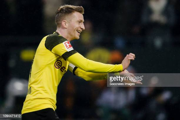Marco Reus of Borussia Dortmund during the German Bundesliga match between Borussia Dortmund v Hannover 96 at the Signal Iduna Park on January 26...