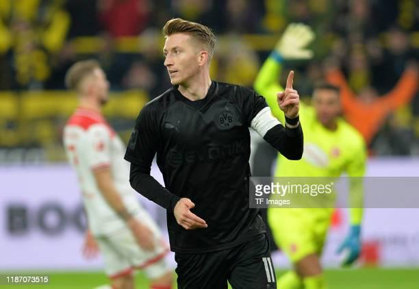 Marco Reus of Borussia Dortmund gestures during the Bundesliga match between Borussia Dortmund and Fortuna Duesseldorf at Signal Iduna Park on...