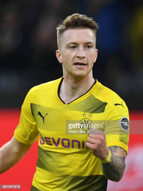Marco Reus of Borussia Dortmund in action during the Bundesliga match between Borussia Dortmund and Eintracht Frankfurt at Signal Iduna Park on March...