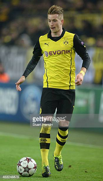 Marco Reus of Dortmund in action during the UEFA Champions League group F match between Borussia Dortmund and SSC Napoli at Signal Iduna Park on...