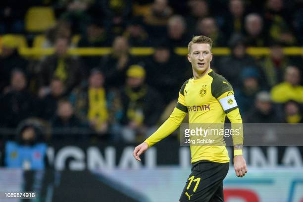 Marco Reus of Dortmund the Bundesliga match between Borussia Dortmund and Hannover 96 at the Signal Iduna Park on January 26, 2019 in Dortmund,...