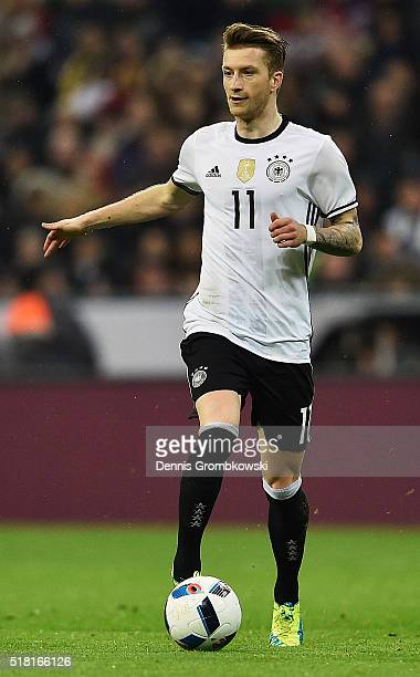 Marco Reus of Germany controls the ball during the International Friendly match between Germany and Italy at Allianz Arena on March 29 2016 in Munich...