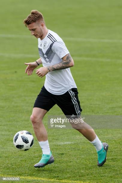 Marco Reus of Germany controls the ball during the Southern Tyrol Training Camp day two on May 24 2018 in Bolzano Italy