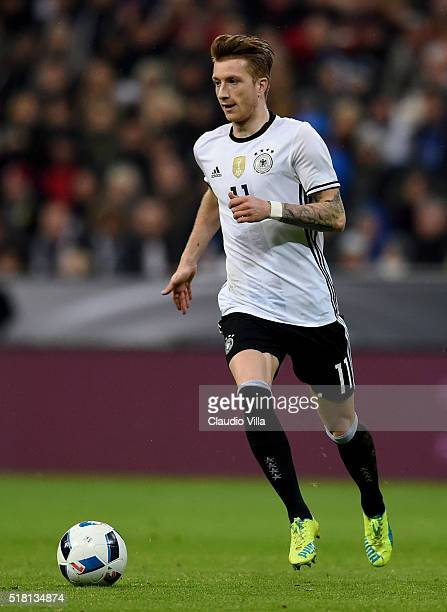 Marco Reus of Germany in action during the international friendly match between Germany and Italy at Allianz Arena on March 29 2016 in Munich Germany