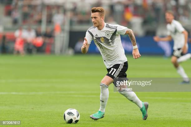 Marco Reus of Germany in action during the international friendly match between Germany and Saudi Arabia at BayArena on June 8 2018 in Leverkusen...