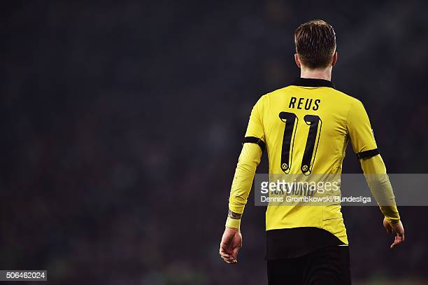 Marco Reus of Germany is seen during the Bundesliga match between Borussia Moenchengladbach and Borussia Dortmund at BorussiaPark on January 23 2016...