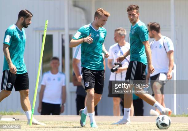 Marco Reus of Germany train to the Germany Training session at Park Arena training ground on June 21 2018 in Sochi Russia