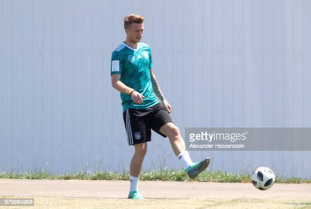 Marco Reus of Germany trains to the Germany Training session at Park Arena training ground on June 21 2018 in Sochi Russia