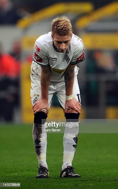Marco Reus of Moenchengladbach looks dejected during the Bundesliga match between Borussia Moenchengladbach and SC Freiburg at Borussia Park Stadium...