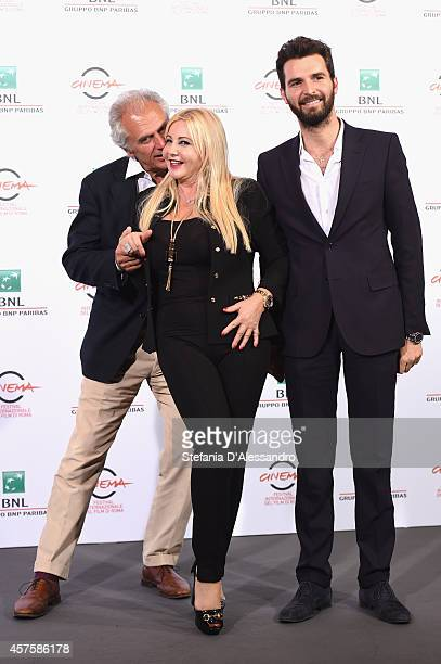 Marco Risi Monika Bacardi and Andrea Iervolino attend the 'Tre Tocchi' Photocall during the 9th Rome Film Festival on October 21 2014 in Rome Italy
