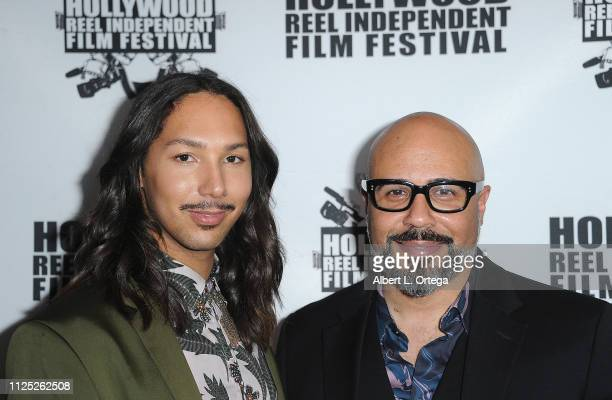 Marco Roe and Chris Roe arrive for The 2019 Hollywood Reel Independent Film Festival held at Regal LA Live Stadium 14 on February 15 2019 in Los...