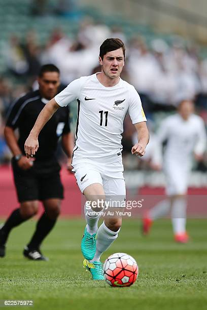 Marco Rojas of New Zealand in action during the 2018 FIFA World Cup Qualifier match between the New Zealand All Whites and New Caledonia at QBE...