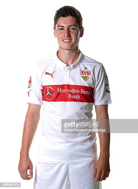 Marco Rojas poses during the VfB Stuttgart Media Day on July 24 2014 in Stuttgart Germany