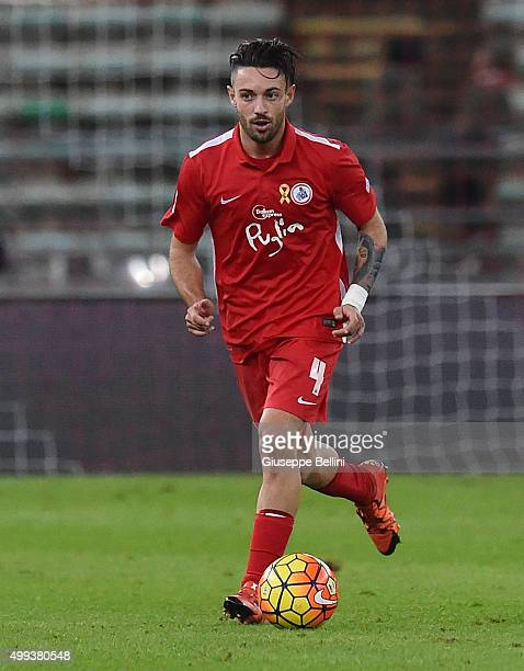 Marco Romizi of AS Bari in action during a tornemnt between FC Internazionale AC Milan and AS Bari at Stadio San Nicola on November 24 2015 in Bari...